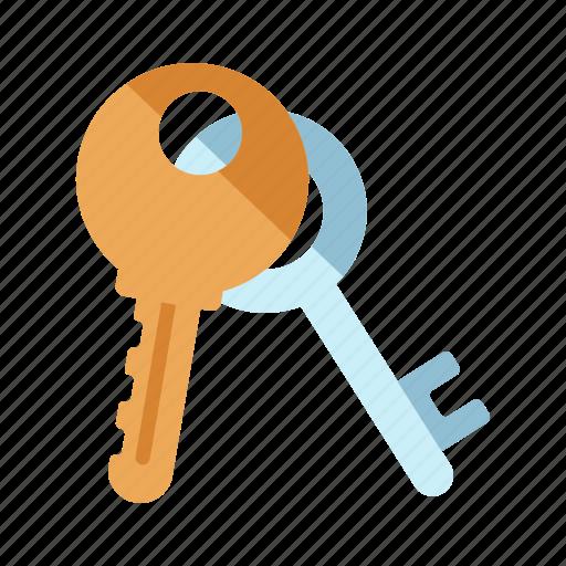 access, door, keys, safe, security, sign, unlock icon