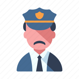 authority, law, officer, police, security, service, uniform icon