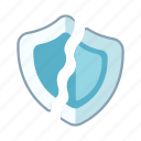 danger, insecure, risk, security breach, technology, unprotect icon