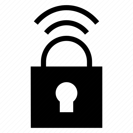 lock, private, secure, wifi icon