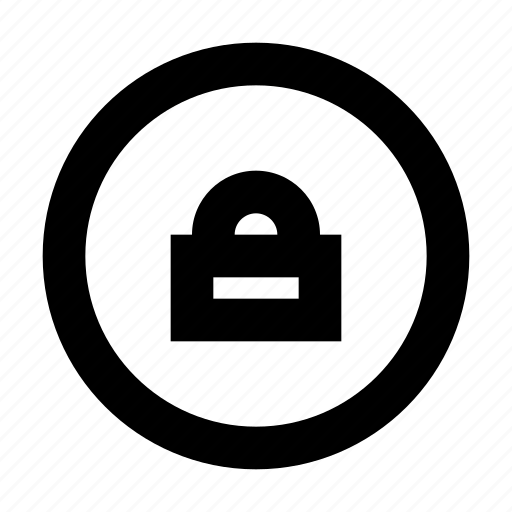 circle, lock, protect, protection, secure, security icon