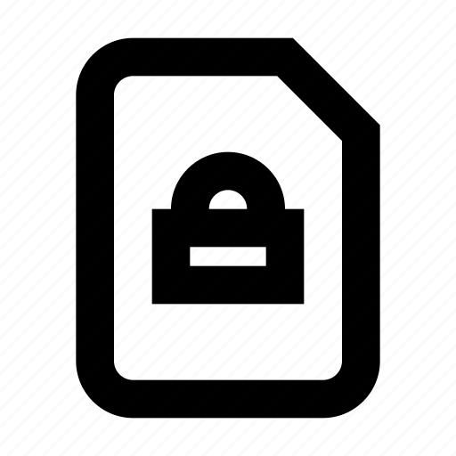 document, lock, protect, protection, secure icon