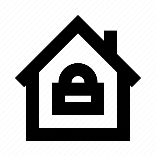 house, lock, protect, protection, secure, security icon