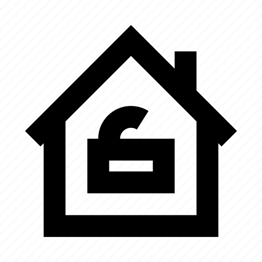 house, protect, protection, secure, security, unlock icon