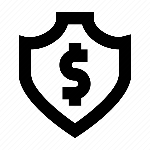 dollar, protect, protection, secure, security, shield icon