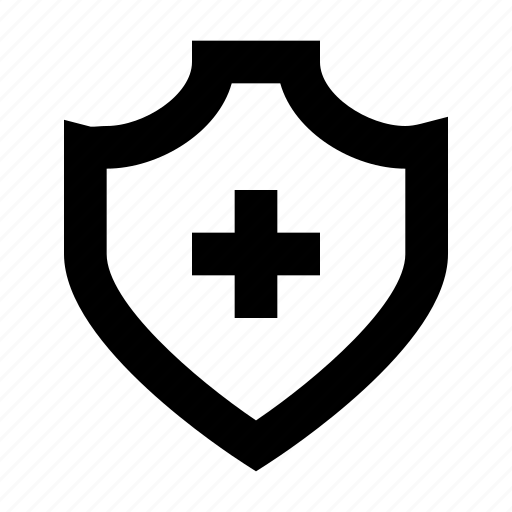 plus, protect, protection, secure, security, shield icon