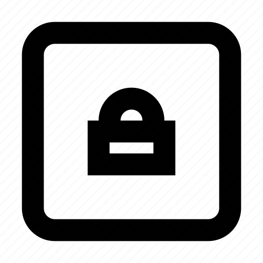 lock, protect, protection, secure, security, square icon