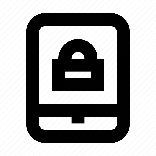 lock, protect, protection, secure, security, tablet icon
