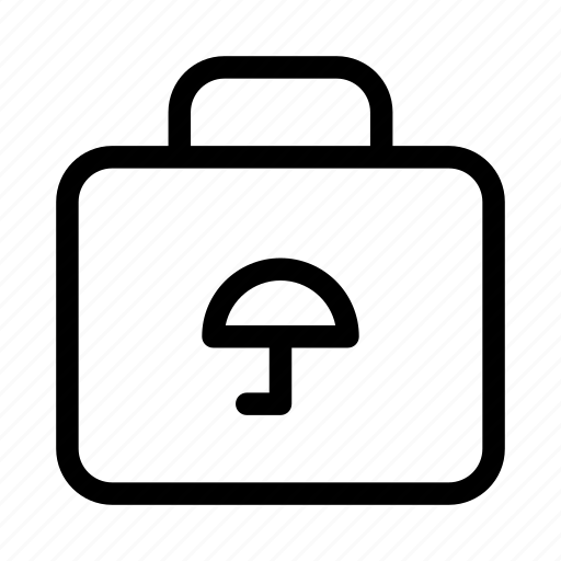 briefcase, protect, protection, secure, security, umbrella icon