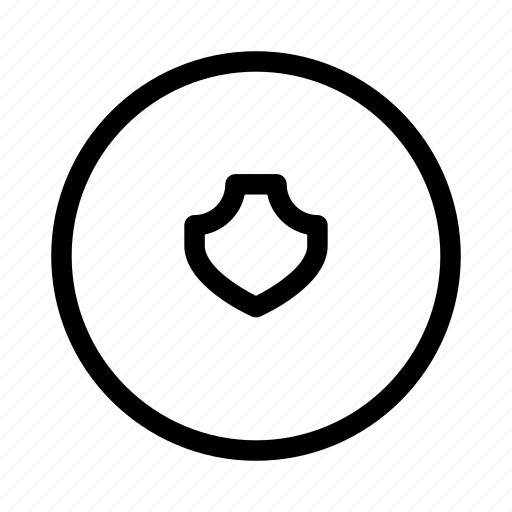 circle, protect, protection, secure, security, shield icon