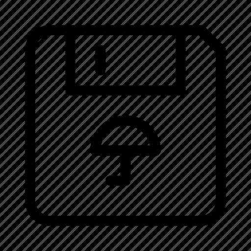 floppy, protect, protection, secure, umbrella icon