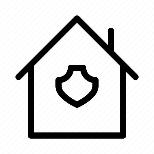 house, protect, protection, secure, security, shield icon