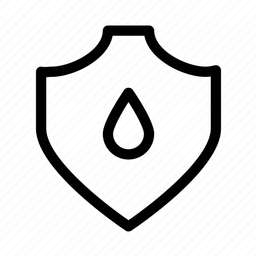 protect, protection, resist, secure, security, shield, water icon