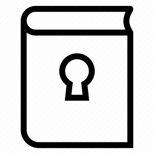 book, content, lock, security icon