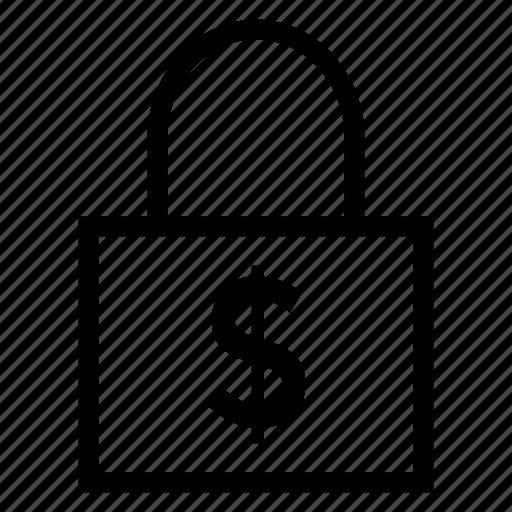 closed, finance, lock, money icon
