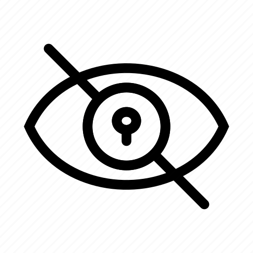 lock, security, view, visibility icon