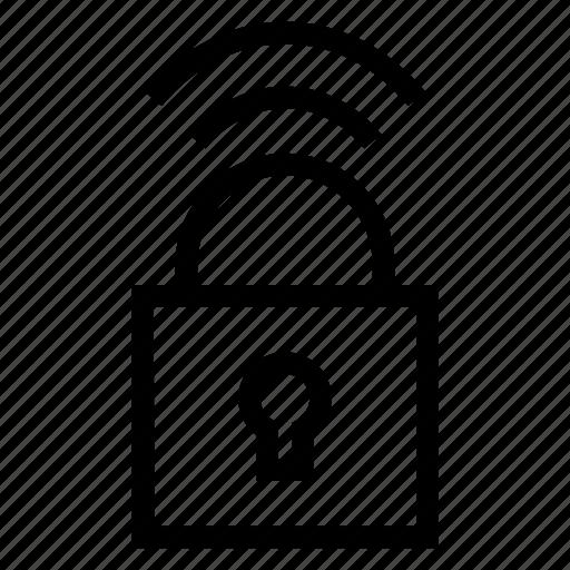 lock, private, secure, wifi icon