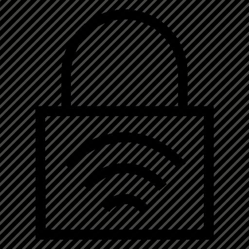 lock, private, signal, wifi icon