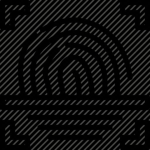 business, fingerprint, police, scanner, secure, security icon