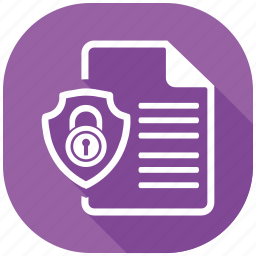 document, protection, safety, secure, security, server, shield icon