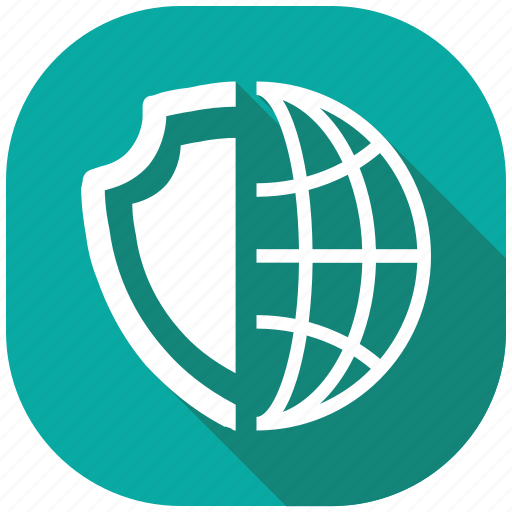 global, protection, safety, secure, security, server, shield icon
