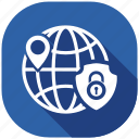 local, protection, safety, secure, security, server, shield icon