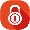 lock, protection, safety, secure, security, server, shield icon