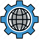 encryption, firewall, guard, internet, server, settings, shield icon