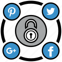 encryption, firewall, guard, media, security, shield, social icon