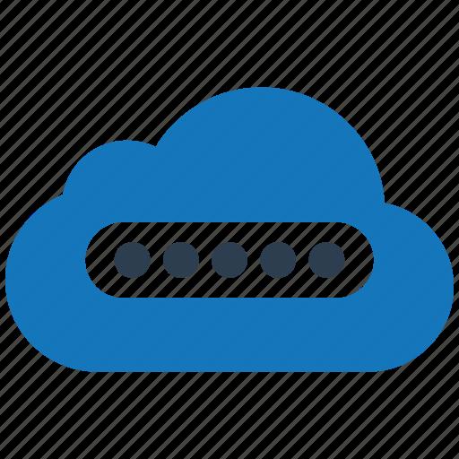 cloud, encryption, firewall, guard, password, shield icon