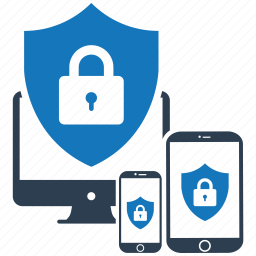 encryption, firewall, guard, multidevice, security, shield icon