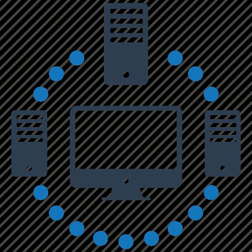 encryption, firewall, guard, server, shield icon