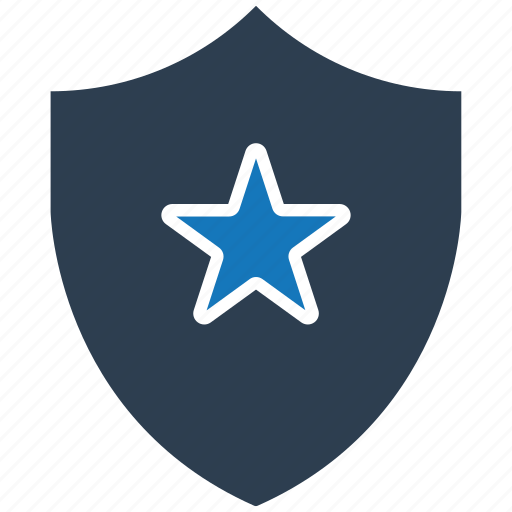 encryption, firewall, guard, shield, star icon