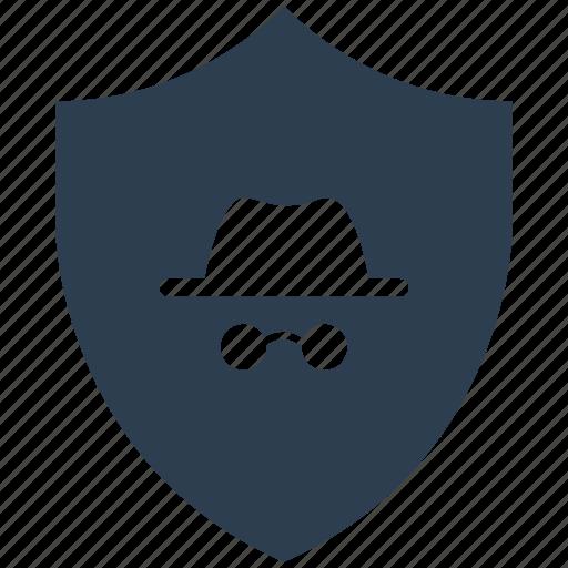 encryption, firewall, guard, hacker, shield, white icon