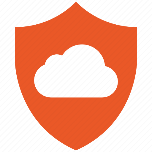 cloud, encryption, firewall, guard, secure, shield icon