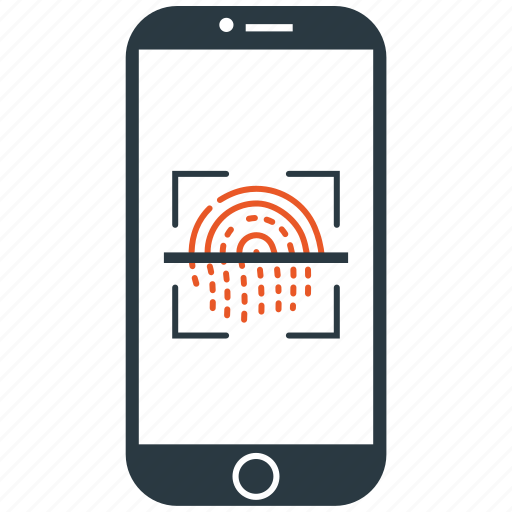 encryption, fingerprint, firewall, guard, scan, shield icon