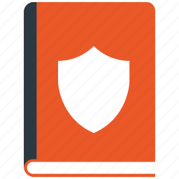 book, encryption, firewall, guard, secure, shield icon