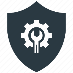 encryption, firewall, guard, secure, settings, shield icon