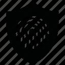 encryption, fingerprint, firewall, guard, security, shield icon