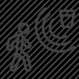 detector, guard, home, motion, person, security, surveillance icon