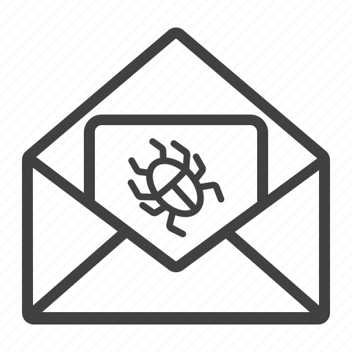 email, envelope, mail, message, security, spam, virus icon