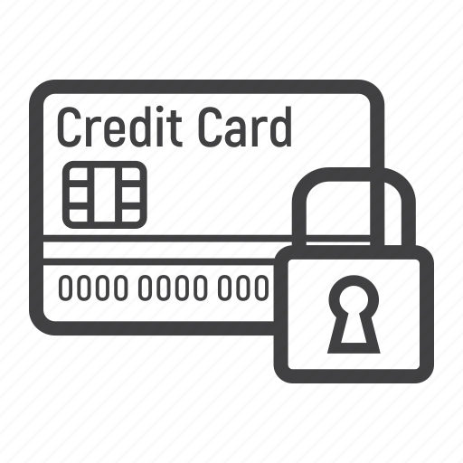 banking, card, credit, padlock, payment, protection, safety icon