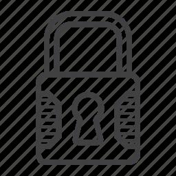 key, lock, padlock, password, safe, security, web icon
