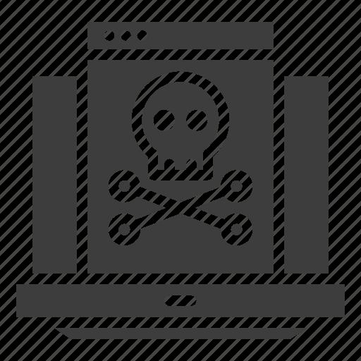 Hacking, laptop, virus icon - Download on Iconfinder