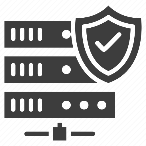network, security, server, shield icon