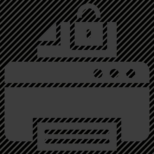 Document, lock, paper, printer icon - Download on Iconfinder