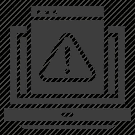 alert, virus, warning icon