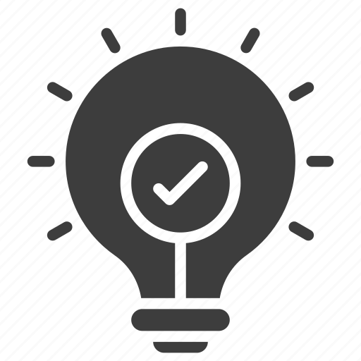 best, bulb, idea, solution icon