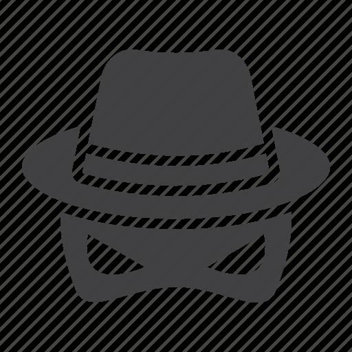 agent, anonymous, hat, incognito, private, secret, spy icon