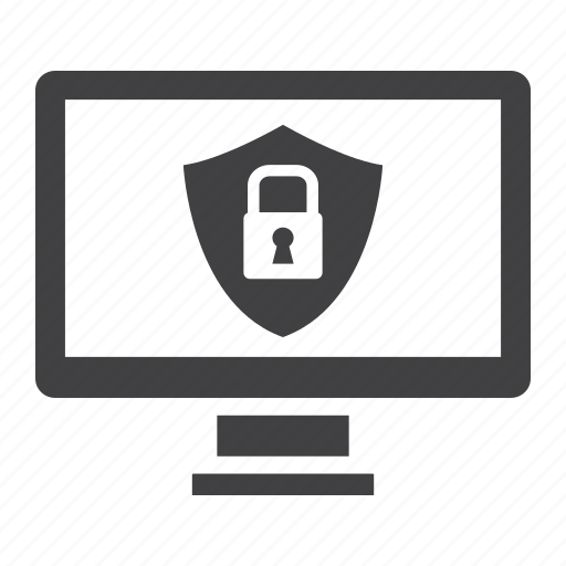 computer, data, encryption, lock, padlock, protection, security icon